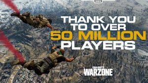 Warzone 50 Million Players