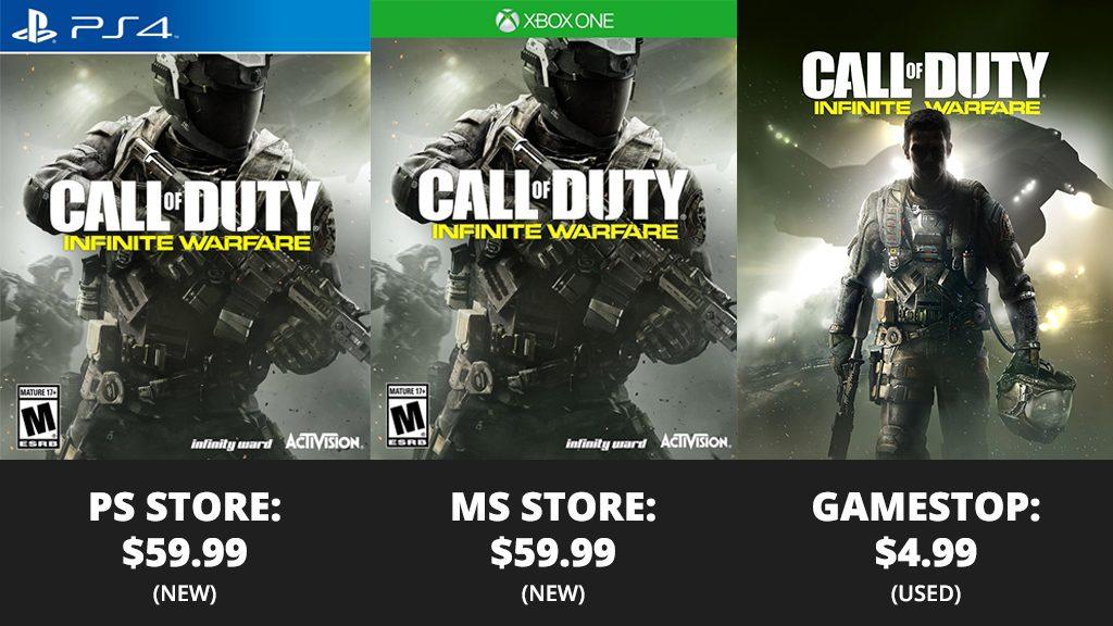 Call of Duty Infinite Warfare - Cost Comparison