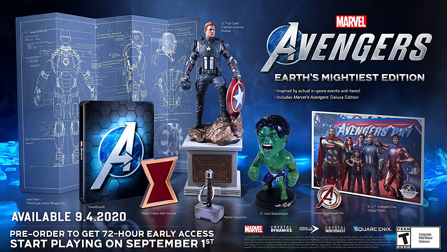 Marvel S Avengers Earth S Mightiest Edition Unboxing Playstation Universe
