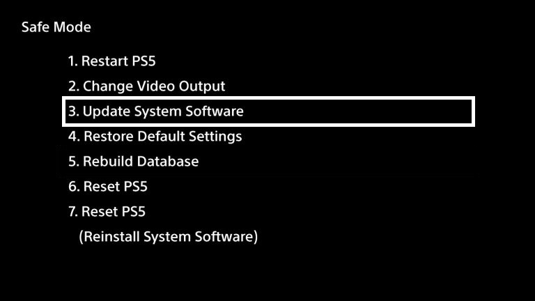 how to put ps5 into safe mode