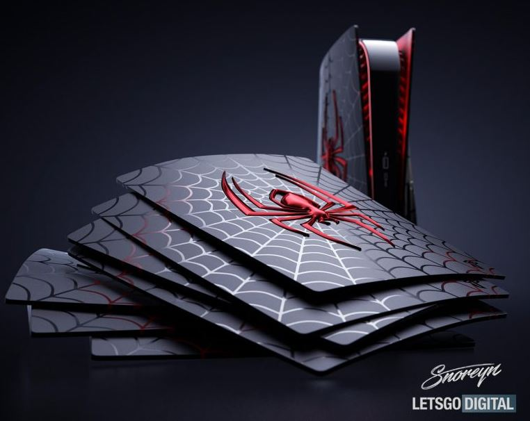 stunning-marvels-spider-man-miles-morales-ps5-faceplates-giveaway-designed-by-snoreyn-and-lets-go-digital-now-live