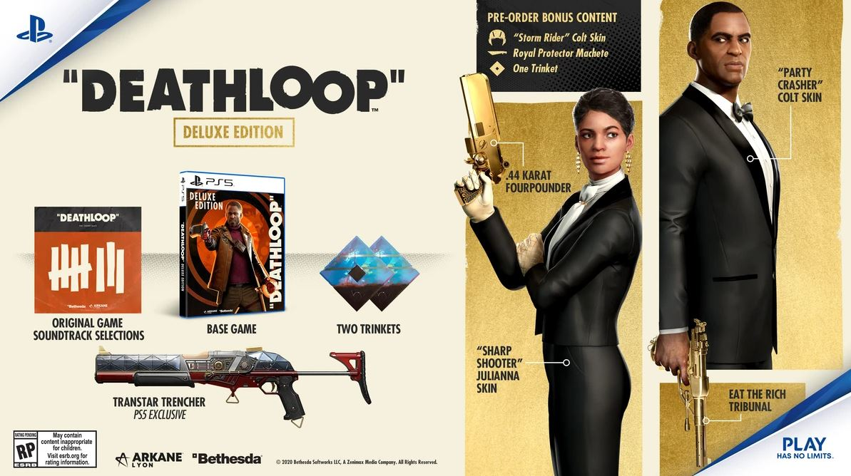 deathloops-deluxe-edition-and-pre-order-ps5-skins-weapons-trinkets-and-more-revealed-in-promo-image-1