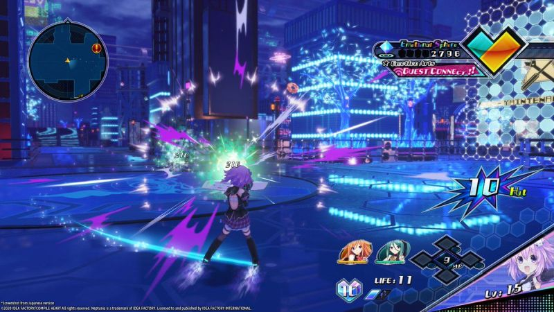 neptunia-virtual-stars-ps4-review-combat