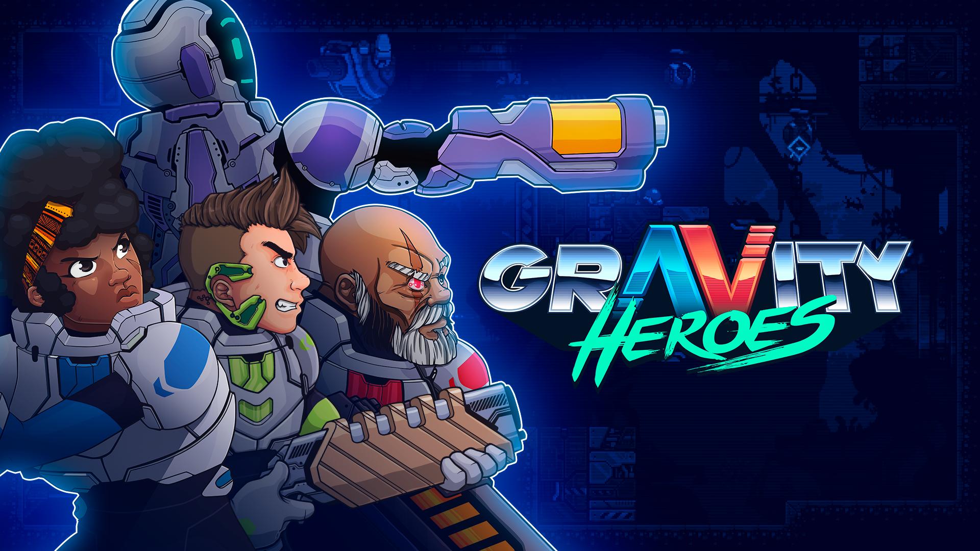 Gravity Heroes PS4 Key Art
