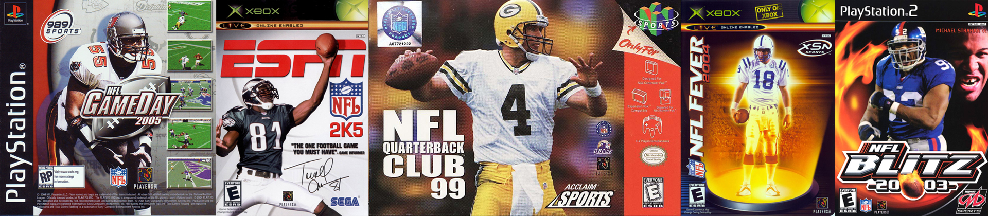 NFL Football Video Game Series Over The Years