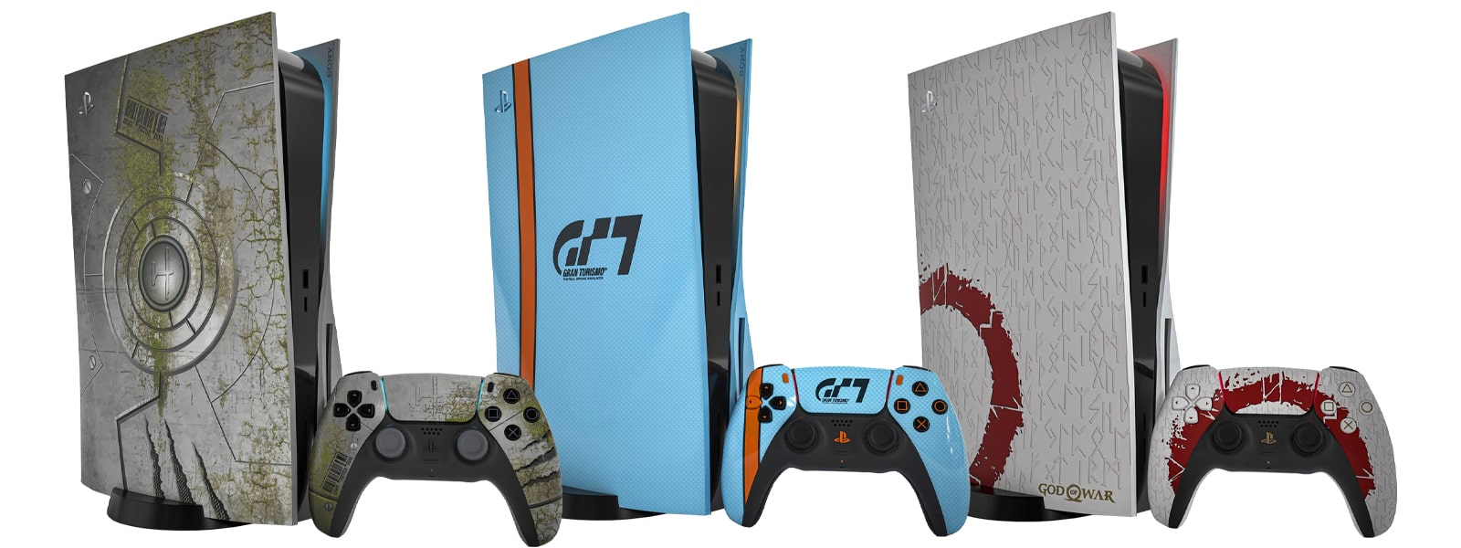 PS5 Limited Edition Renders - Horizon Forbidden West - Gran Turismo 7 - God Of War